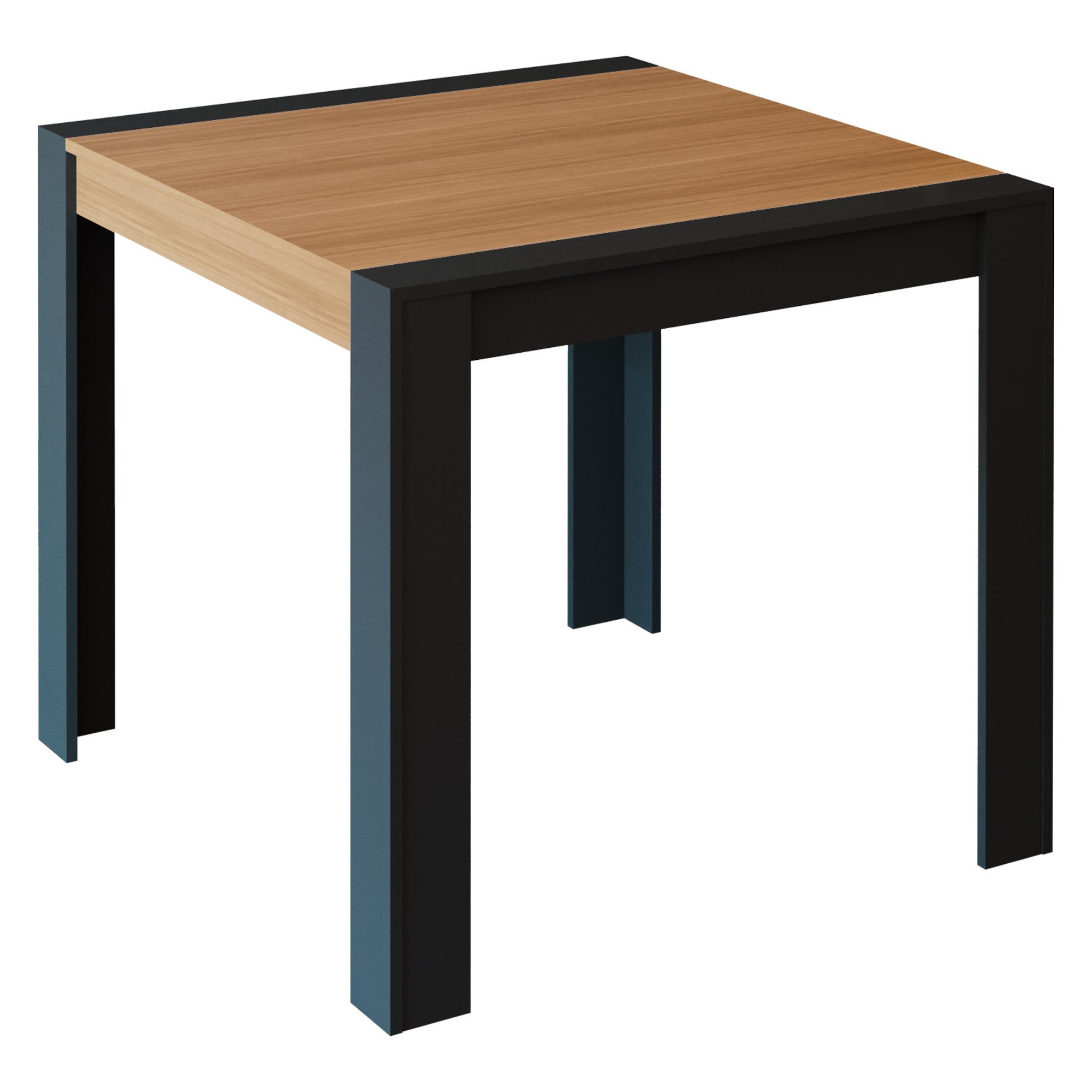 Mesa para Sala de Jantar Mesa Grace 90 cm X 90 cm Mdf Cimol Chumbo/Nature