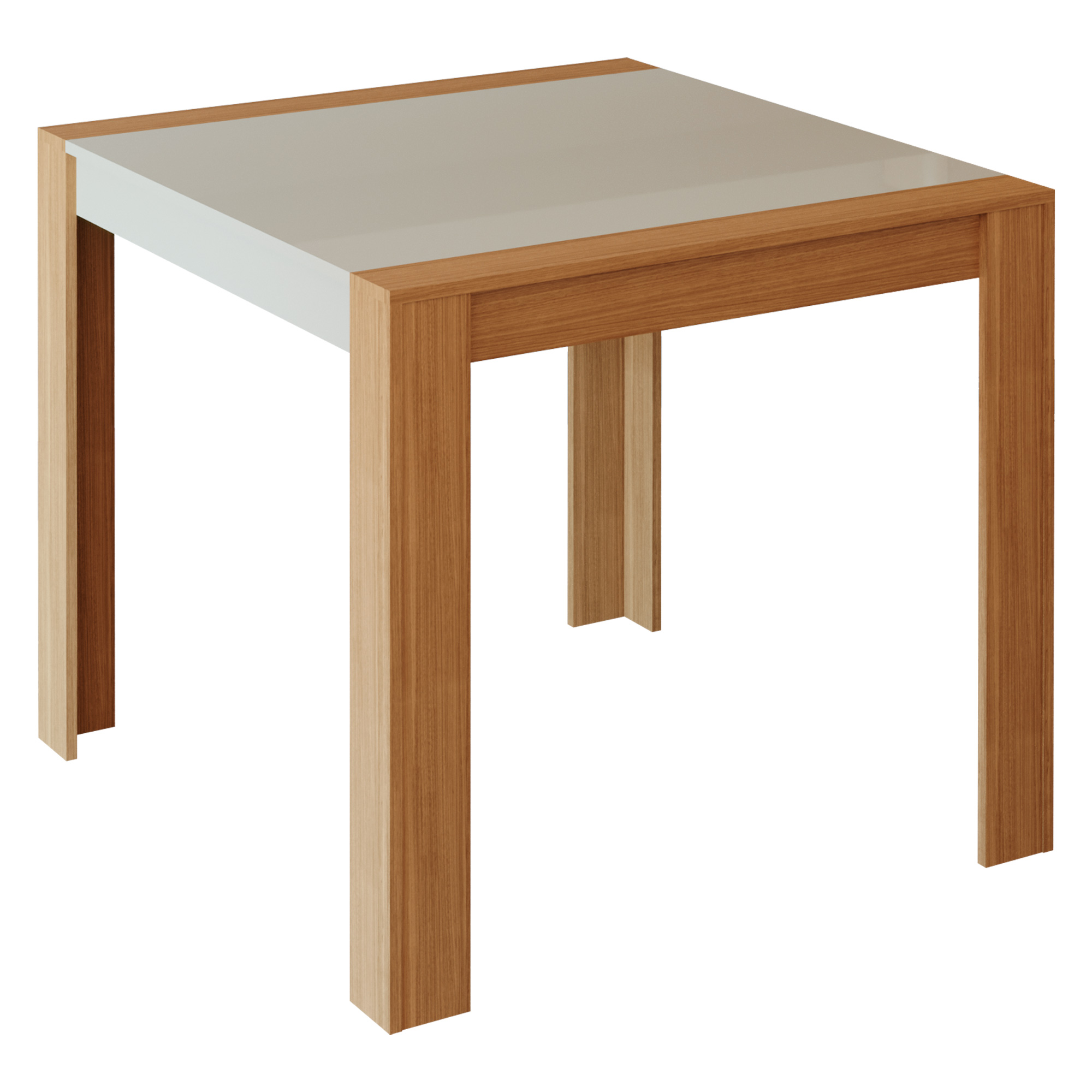 Mesa para Sala de Jantar Grace 90 x 90 cm 100% MDF Cimol Nature/Off White