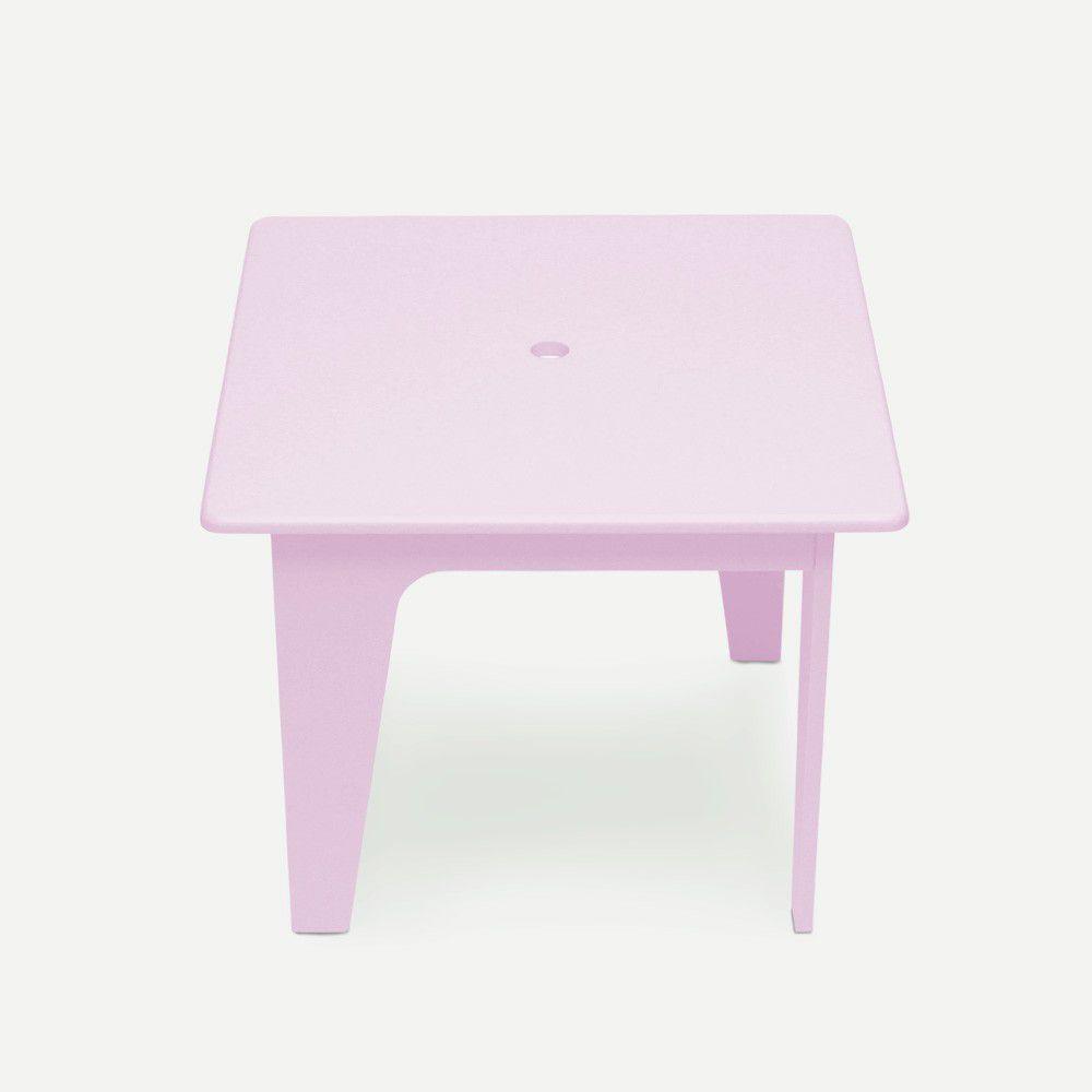 Mesinha Infantil Rosa em Laca Modelo Arco Design Assinado Caixotin