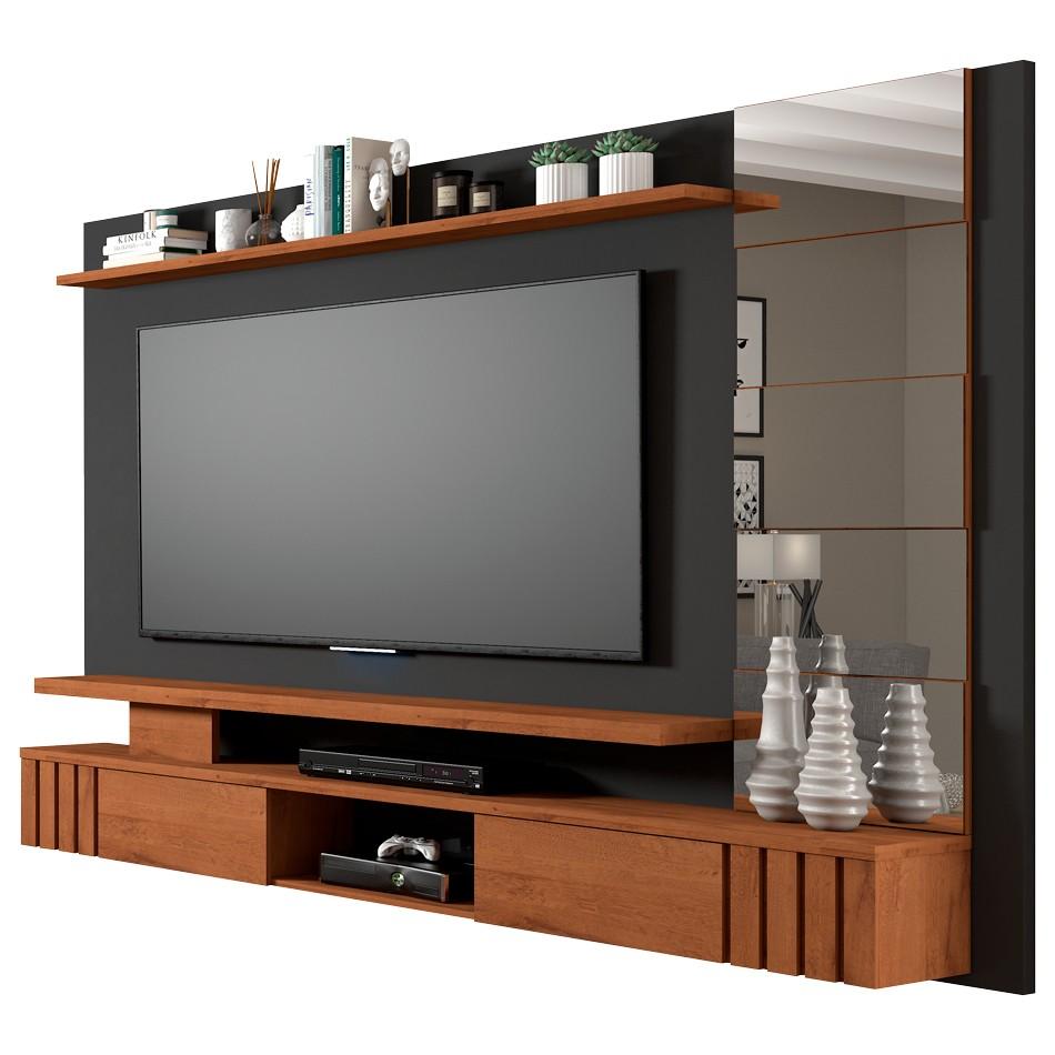 Painel Para Tv Murano 100% Mdf Chumbo-Savana  Permobili