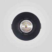7x Spot Dicroica Redondo Face Plana Preto + 7x Lâmpada LED