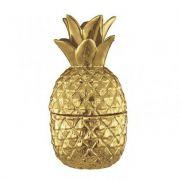 Abacaxi Decorativo Em Cerâmica Dourado 20,5X11,5CM 6216 Mart Collection
