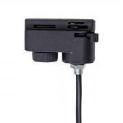Adaptador Para Trilho Eletrificado Preto com Cabo DS2732 Delis