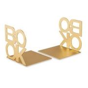 Aparador de Livros em Metal Dourado 13cm 10945 Mart