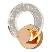 Arandela Arco Cristal Bolha Dourada LED 7W 3200K Bivolt
