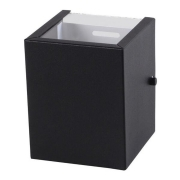 Arandela Box 2 Focos Preta 1G9 10x12cm Externa