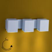 Arandela Cube 3gu10 Direcionavel Aço/Termoplastico Branco 34x9,2cm