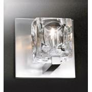Arandela de Cristal e Metal 12cm 1G9 Bivolt Bronzearte