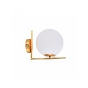 Arandela Globe Line Dourado Globo Branco 1E27