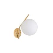 Arandela Globe Up Dourado Globo Branco 1E27