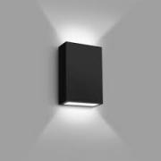 Arandela LED Preta LED 4W 6000K 12cm Muro Parede Externa Delis