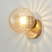 Arandela Metal Dourado e Globo Âmbar 1E14
