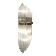 Arandela Moderna Metal Cromado e Cristal 2E14 50cm