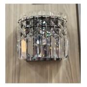 Arandela Paris Cristal Redonda 16x16cm 1G9 Bronzearte