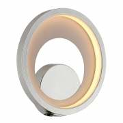 Arandela/Plafon Loop Cromado e Branco LED 10W 3000K Bivolt HM006CR Bella