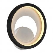 Arandela/Plafon Loop Preto e Branco LED 10W 3000K Bivolt HM006WB Bella