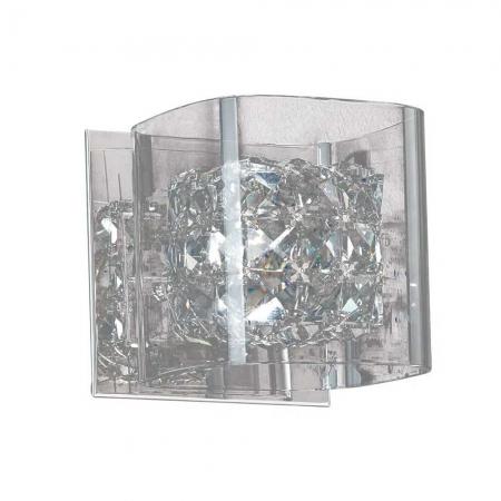 Arandela Ravel Cristal Transparente Metal Cromado 1G9 HO027 Bella