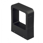 Balizador Modern Preto Fosco LED 10W 3000k Bivolt