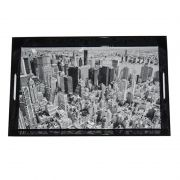 Bandeja MDF Dark New York City Preta 46X35,5CM BTC