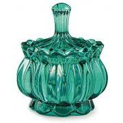 Bomboniere Vaso Decorativo Vidro Esmeralda 11x9,5cm 11315 Mart
