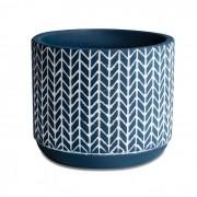 Cachepot Azul em Cimento 10x12,5cm 10420-1 Mart