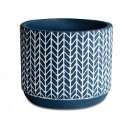 Cachepot Azul em Cimento 9x10cm 10436-1 Mart