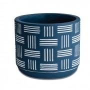 Cachepot Azul em Cimento 9x10cm 10436-2 Mart