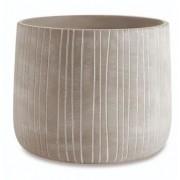 Cachepot Cinza em Cimento Texturizado 13,5x11,5cm 10810 Mart
