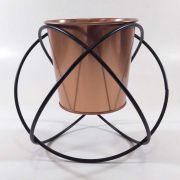 Cachepot Decorativo Metal Cobre 20x17,5CM QF0009