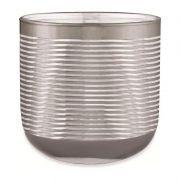 Cachepot Decorativo vidro Prata 15x15CM 09698