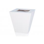Cachepot em MDF Branco com Rodinhas 36,5x38,5cm