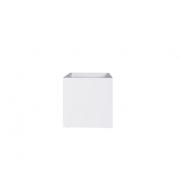 Cachepot Quadrado em MDF Branco com Rodinhas 34x34cm