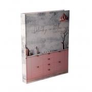Caixa Livro Decorativa Book Box Delicadeza em Detalhes 30x23,5cm Goods BR