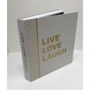 Caixa Livro Decorativa Book Box Live Love Laugh 31x30cm Goods BR