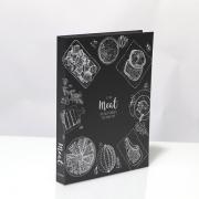 Caixa Livro Decorativa Book Box Meat Metalizado 30x23,5cm Goods BR