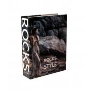 Caixa Livro Decorativa Book Box Rocks 26x20cm Goods BR