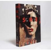 Caixa Livro Decorativa Book Box She Collage Art 30x23,5cm Goods BR