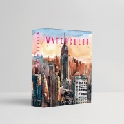 Caixa Livro Decorativa Book Box Watercolor 26,5x20cm Goods BR