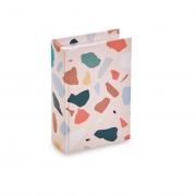 Caixa Livro Decorativa Rosa Colors 16x11cm 11065 Mart