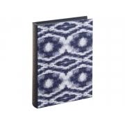 Caixa Livro Decorativa Tie Dye Azul 25x18cm 11791 Mart
