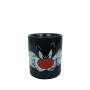 Caneca Porcelana Frajola Looney Sylvester Preta 300ml BTC