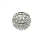 Castiçal Porta Vela de Cristal Bolhas 11x8,5cm 4417 Lyor