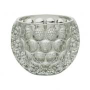 Castiçal Porta Vela de Cristal Bolhas 9,5x7,5cm 4416 Lyor