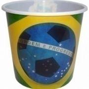 Conjunto Com 10 Baldes Para Pipoca Brasil 14CM BTC