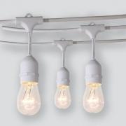 Cordão LED String Light Varal Branco 10 Lâmpadas 5M Uso Externo
