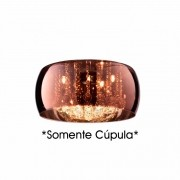 Cupula Vidro Cobre Pendente Soho PD002CO Somente Vidro