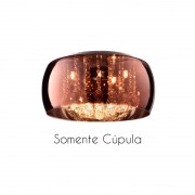 Cupula Vidro Cobre Soho PD001CO Bella Somente A Cupula