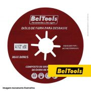 DISCO DE FIBRA DESBASTE 4.1/2X40 BELTOOLS