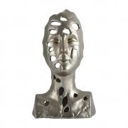 Escultura Busto Decorativo em Cerâmica Bronze 27,5cm MX0020 BTC