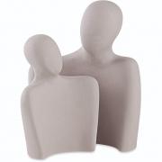 Escultura Casal em Cimento 2 Peças 13492 Mart